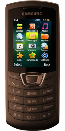 Samsung GT-C3200 Monte Bar dark brown