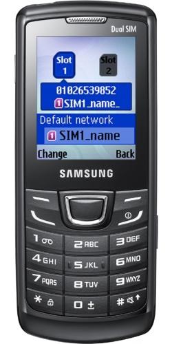 Samsung GT-E1252 Duos Lite black