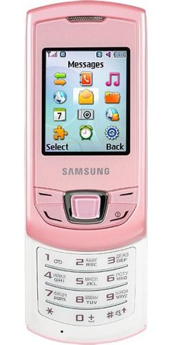 29762f3fafaf Samsung GT-E2550 Monte Slider pink   Мобильный справочник