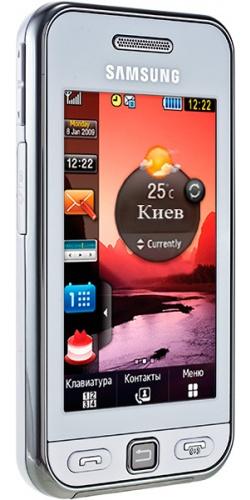 Фото телефона Samsung GT-S5230 Star white