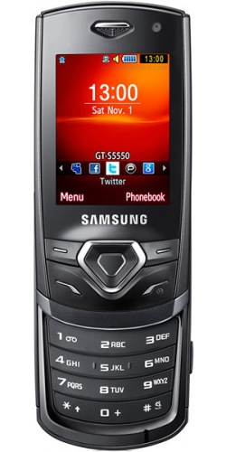 Фото телефона Samsung GT-S5550 Shark 2 black