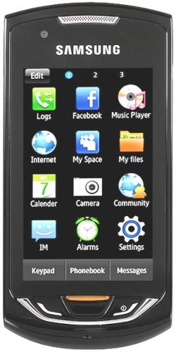 Samsung GT-S5620J Monte Navi dark gray