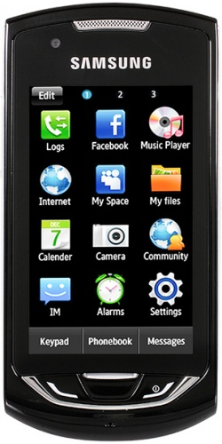 Samsung GT-S5620J Monte Navi deep black