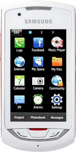 Samsung GT-S5620J Monte Navi white