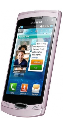 Фото телефона Samsung GT-S8530 Wave II pink