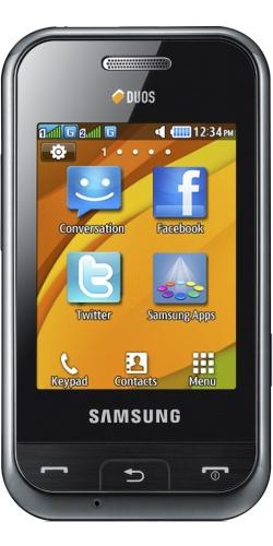 Samsung GT-E2652W Champ DuoS black