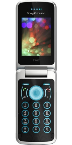 Sony Ericsson T707 lucid blue
