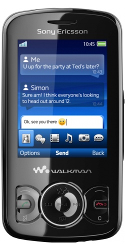Фото телефона Sony Ericsson W100 Spiro stealth black