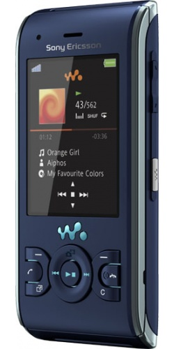 Sony Ericsson W595 active blue