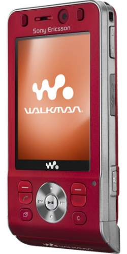 Фото телефона Sony Ericsson W910i hearty red