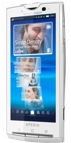 Фото телефона Sony Ericsson X10 XPERIA luster white
