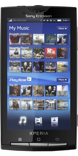 Sony Ericsson X10 XPERIA sensuous black