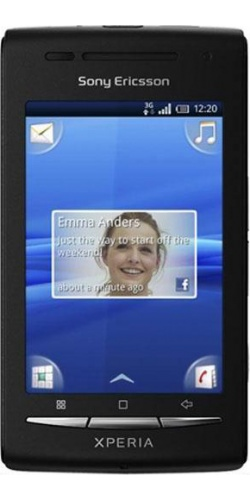 Sony Ericsson X8 XPERIA black blue
